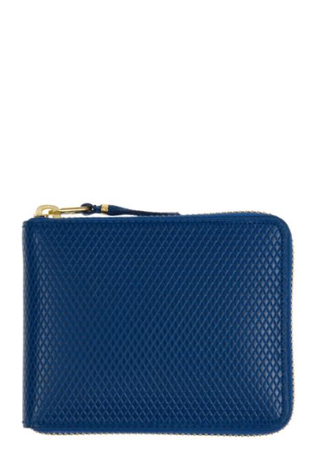 Comme des Garçons Leather SA-7100LG Zip Wallet - Blue