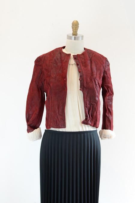 Hazel Brown Pixie red Jacket