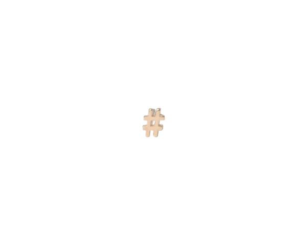 Winden Hashtag Stud Earring YG