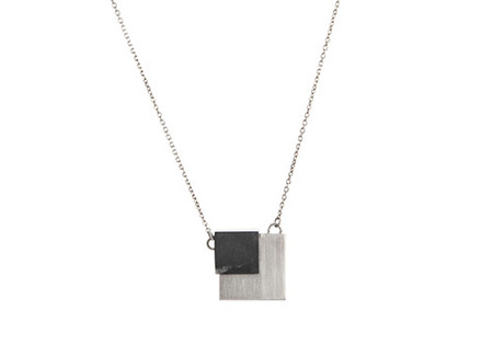 PICO DESIGN FLOATING CUBE NECKLACE