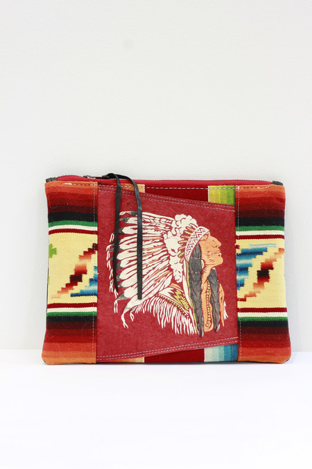 Totem Salvaged Vintage Chief clutch