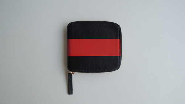 Red & Navy Half Zip Wallet