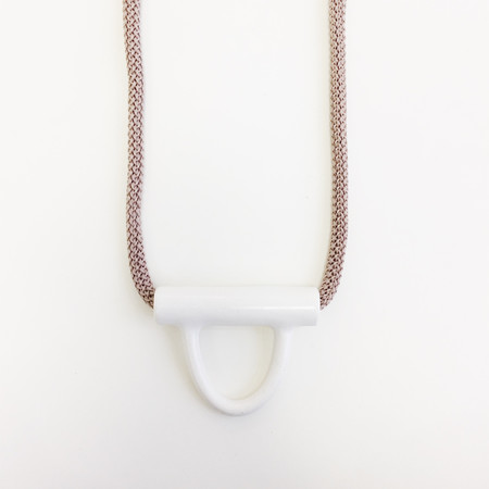 Aubrey Hornor Nude U Lock Necklace