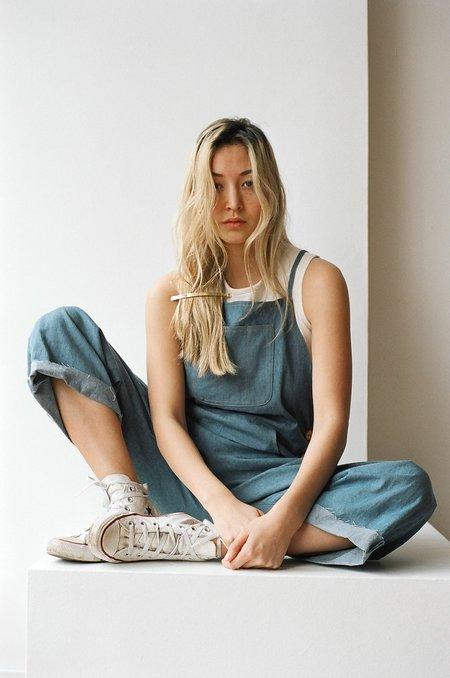 Laurs Kemp Arlo Workwear One-piece in True Blue Denim