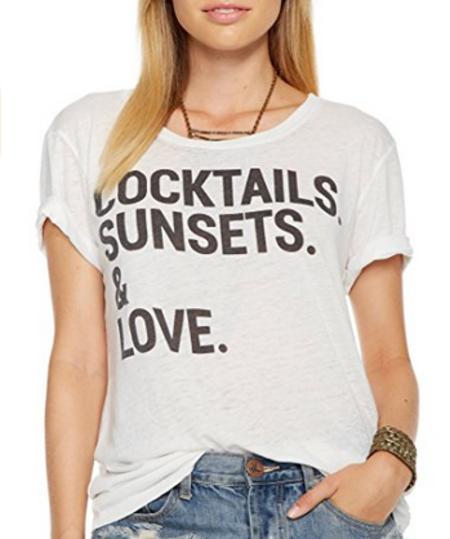 Chaser LA Cocktails Sunsets & Love T-shirt