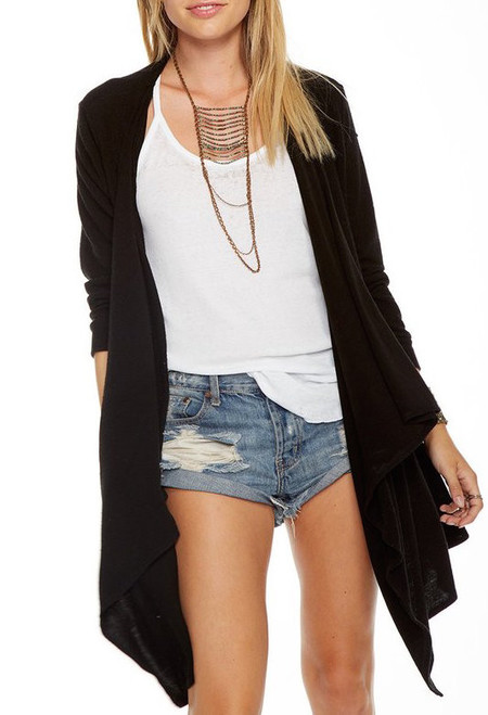 Chaser LA Love Knit Open Cardigan