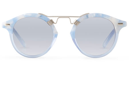 Krewe du Optic St. Louis Sunglasses in Matte Ciel to Blue Crystal