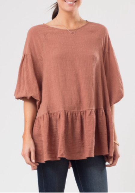 Sunday Supply Co. Bell Sleeve Peplum