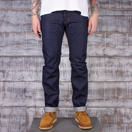 "Railcar Fine Goods Old run Spikes X001 - 13.5oz Slim Straight Jean-Cone Mills ""Classic"" Indigo"
