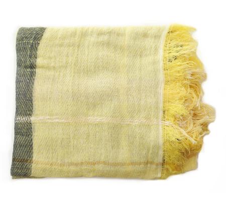Tamaki Niime Yellow Cotton Woven Shawl