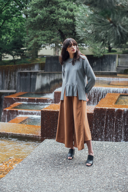REIFhaus Grete Culotte Pant in Sienna