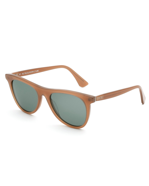 RetroSuperFuture Man Sunglasses in Beato Caramel