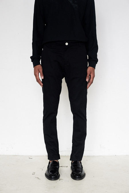 Assembly New York Cotton Twill Skinny Trouser - Black