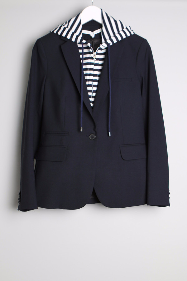 Veronica Beard Classic Jacket W/Hoodie Dickey