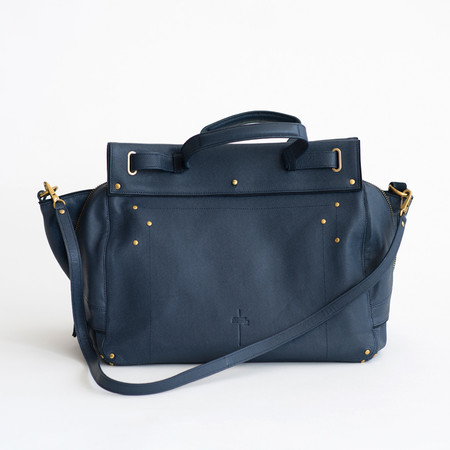 Jerome Dreyfuss Carlos Bag Caviar Cowskin Navy