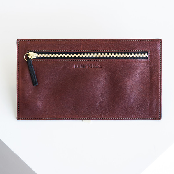 Kempton & Co Topsy Turvy Wallet - Brandy/Navy