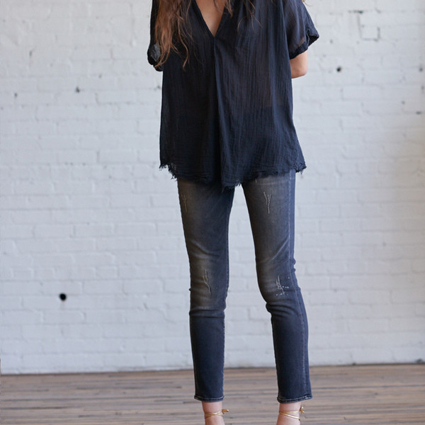 R13 Kate Skinny Orion Black