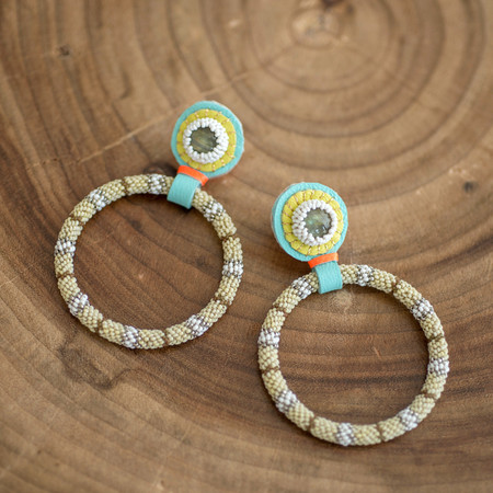 Robin Mollicone Medium Stripy Hoops
