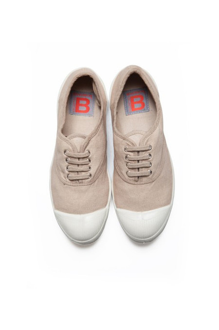 Bensimon Lace Up Tennis, Eggshell