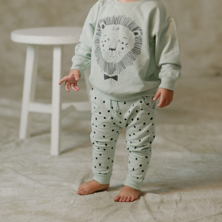 Kid's Rylee & Cru DOTS N' DIAMONDS PRINT SWEATPANTS