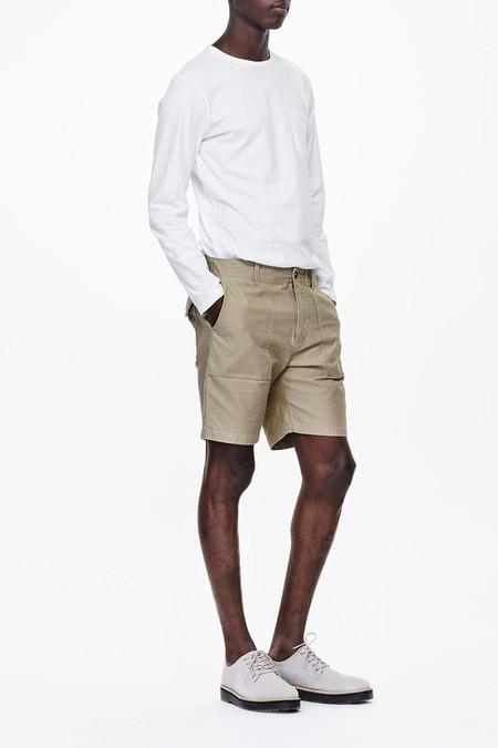 Saturdays Surf NYC James Solid Pima Cotton L/S T-Shirt | White