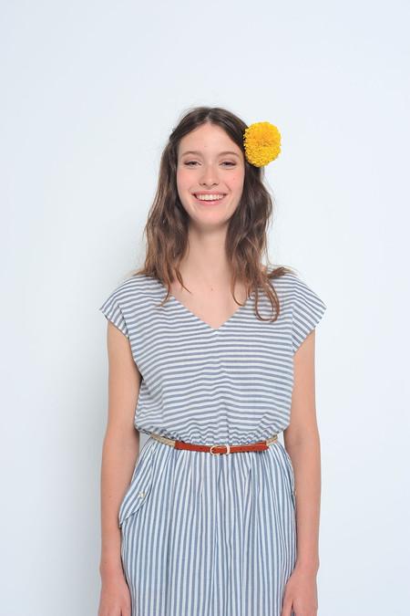 Des Petits Hauts Elmita Striped Cotton Dress