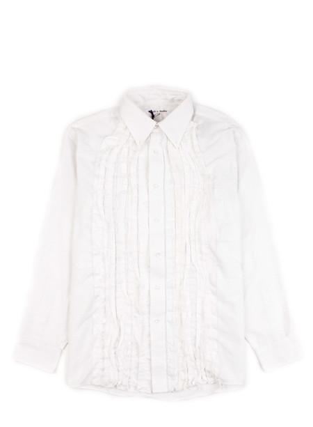 Needles Rebuild - Ribbon Shirt White