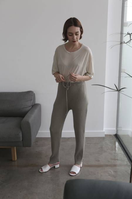 Lauren Manoogian Rib Arch Pants in Clay