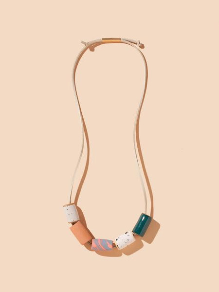 The Pursuits of Happiness Ceramic Bead Necklace