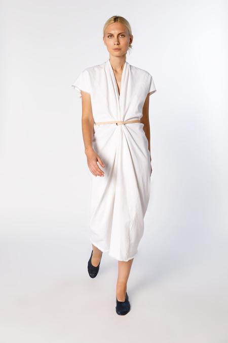 Miranda Bennett Knot Dress - Denim in White