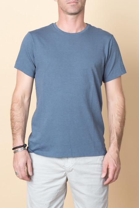 Save Khaki S/S Heavy Heather Jersey Tee In Blue