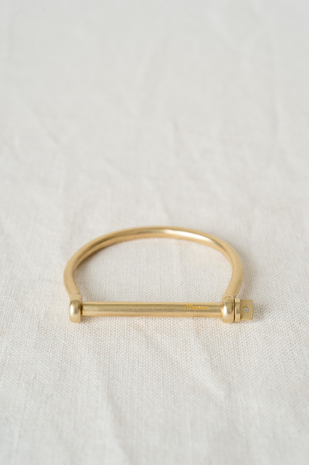 Miansai Screw Cuff In Brushed Gold Plated