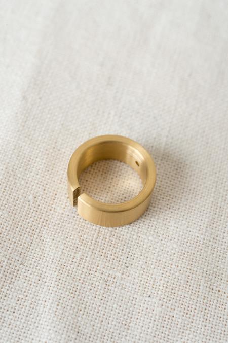 Marmol Radziner Wide Cut Ring In Brass