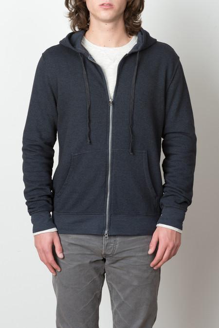 Save Khaki Zip Hooded Sweatshirt In Char. Marine