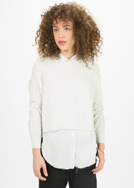 Kristensen du Nord Drop-Shoulder Cropped Sweater