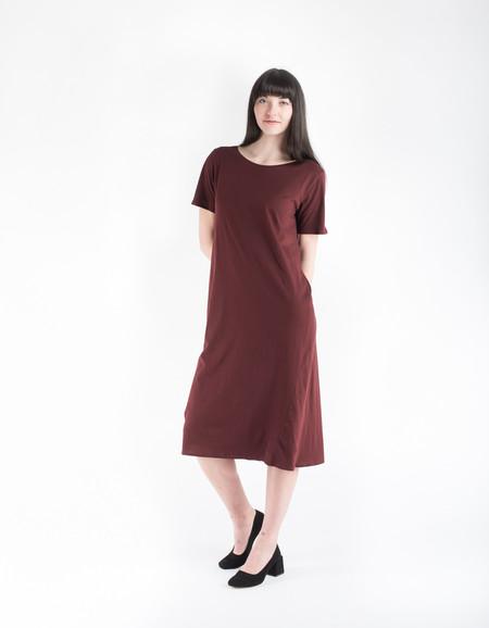 Kowtow Building Block T-Shirt Dress Burgundy