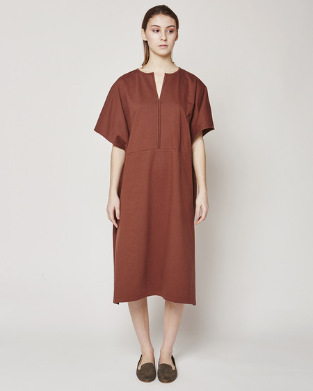 Revisited Matters Terry Poncho dress in Marsala