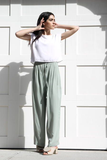 DUO NYC Vintage | DKNY SILK WIDE LEG PANTS