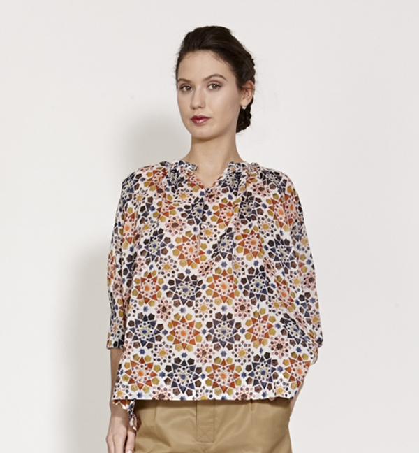 TiA CiBANi Tunic blouse with 3/4 sleeves