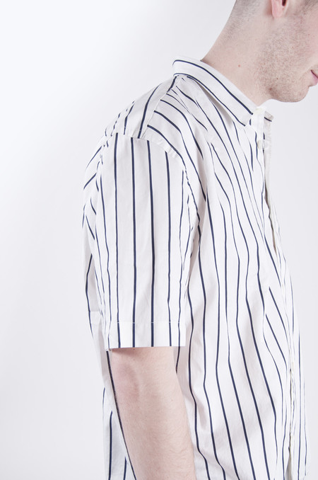 Our Legacy Initial Short Sleeve Shirt Big Blue/White Stripe