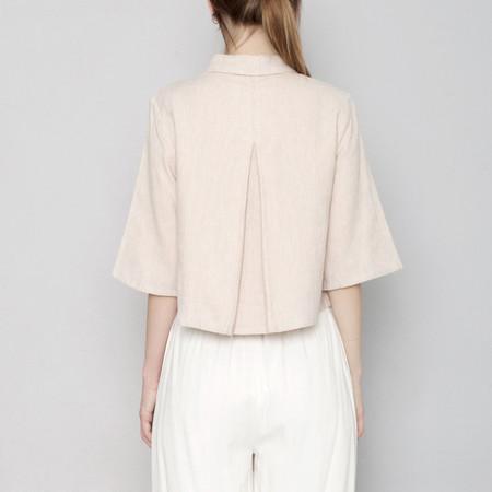 7115 by Szeki Back Pleated Shirt - Blush - SS17