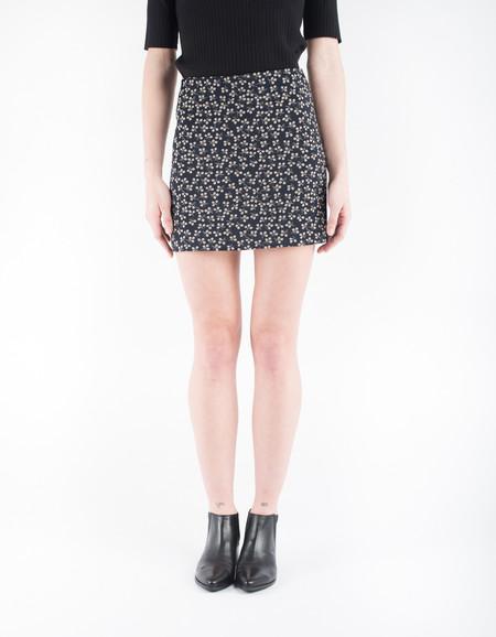 Ganni Greenville Jacquard Skirt Total Eclipse