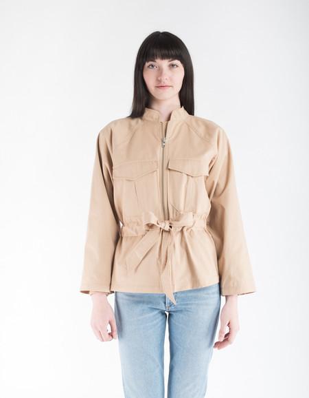 Ganni Phillips Cotton Jacket Cuban Sand