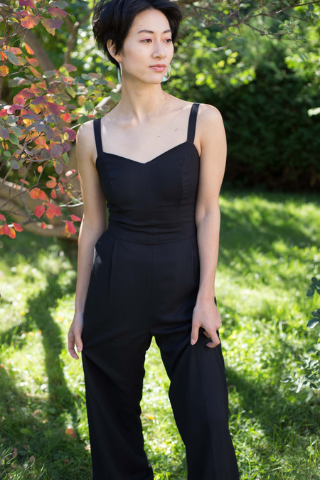Birds of North America Sparrow Jumpsuit (Black)