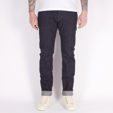 Pure Blue Japan XX-019 Relaxed Tapered Jean - One Wash 13.8oz Nep Indigo Selvedge Denim