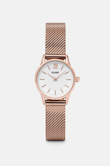 CLUSE WATCH La Vedette Mesh Rose Gold/White