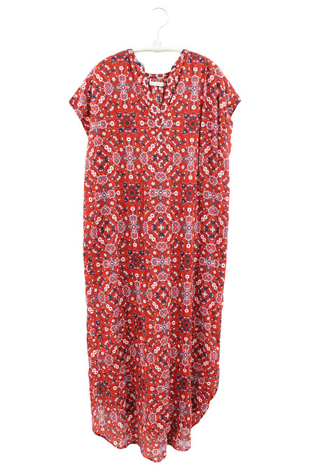 Xirena ISLAND GAUZE KENNEDY DRESS - ROUGE