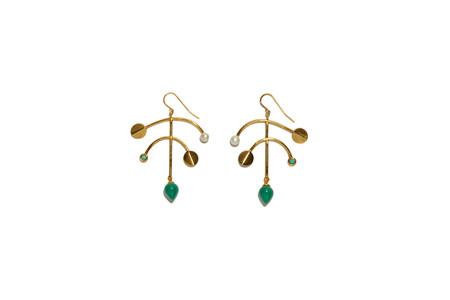 Lizzie Fortunato Malachite Mobile Earrings