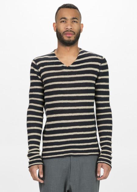 Hannes Roether Zilk Knit V-Neck Sweater
