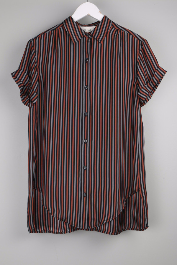 The Great The Short Sleeve Century Shirt Stripe